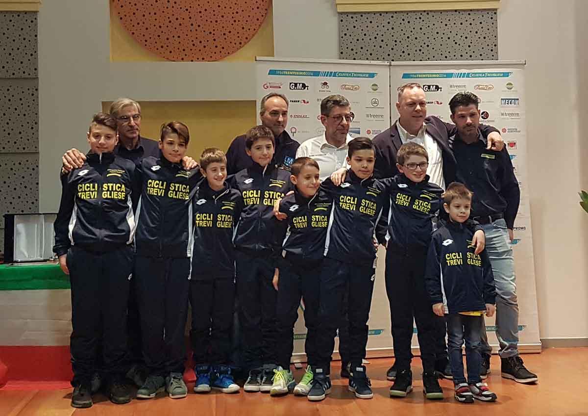 La squadra Giovanissimi 2018 della Ciclistica Trevigliese