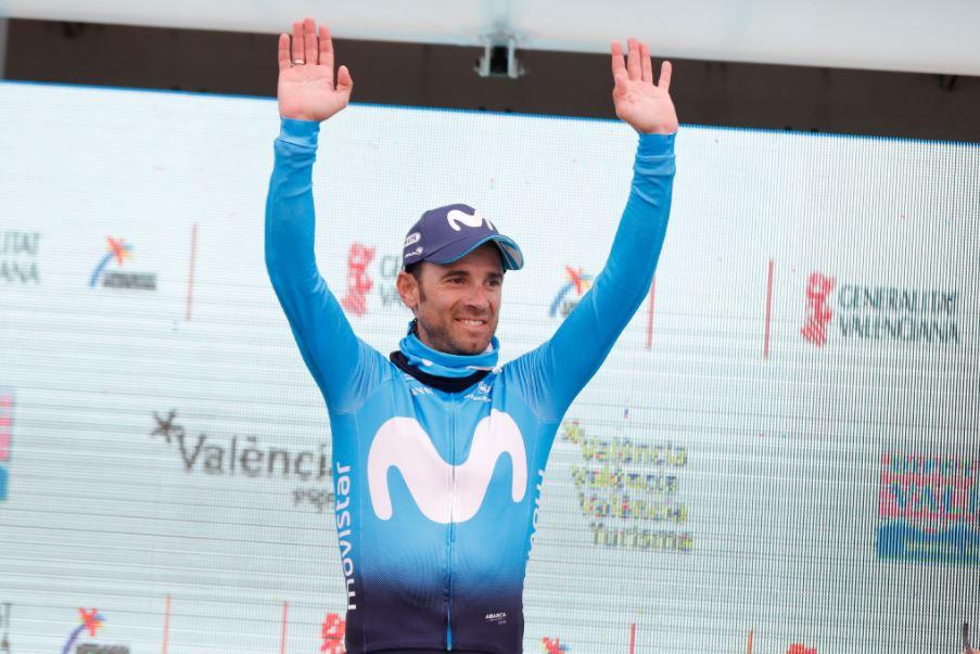 Alejandro Valverde vincitore della seconda tapap della Volta Valenciana 2018