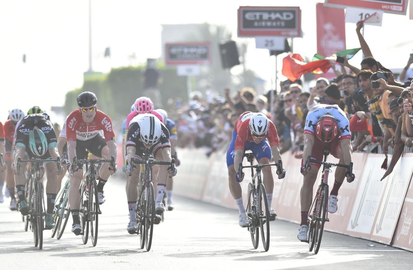 Phil Bauhaus vince la terza tappa dell'Abu Dhabi Tour