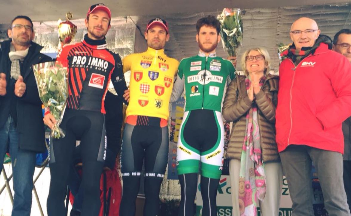 Il podio della terza tappa della Boucles du Haut-Var