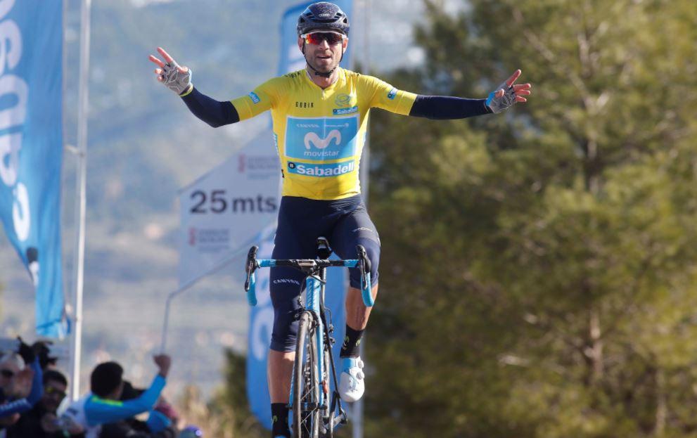 Alejandro Valverde vince la quarta tappa della Volta Valenciana 2018