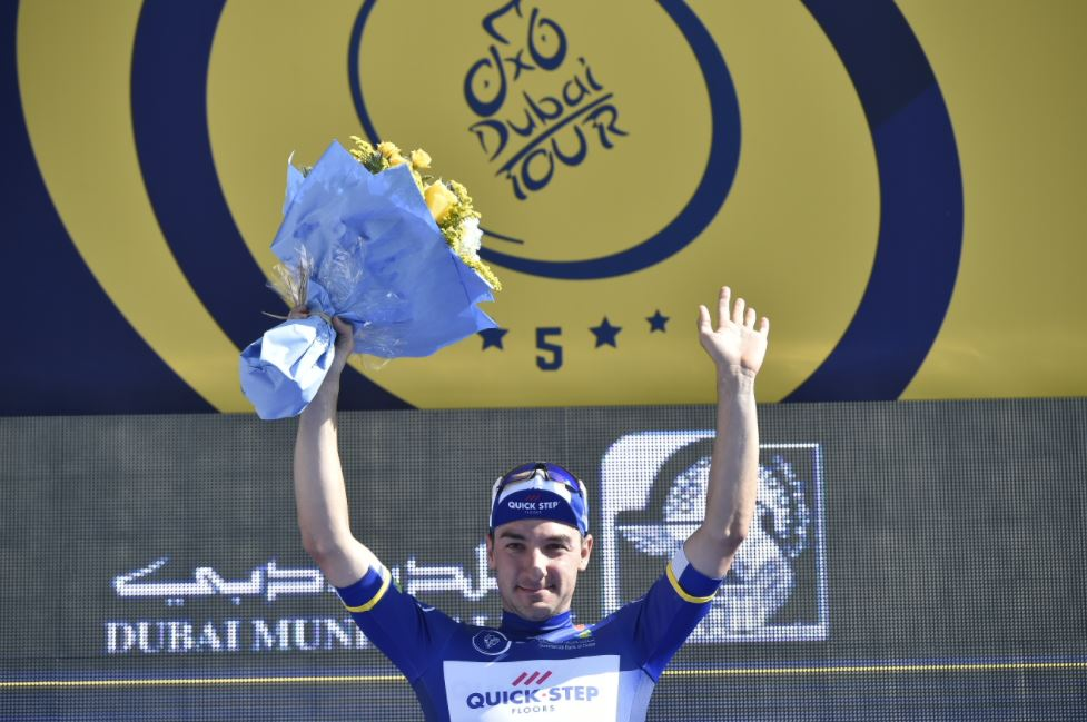 Elia Viviani è leader del Dubai Tour 2018