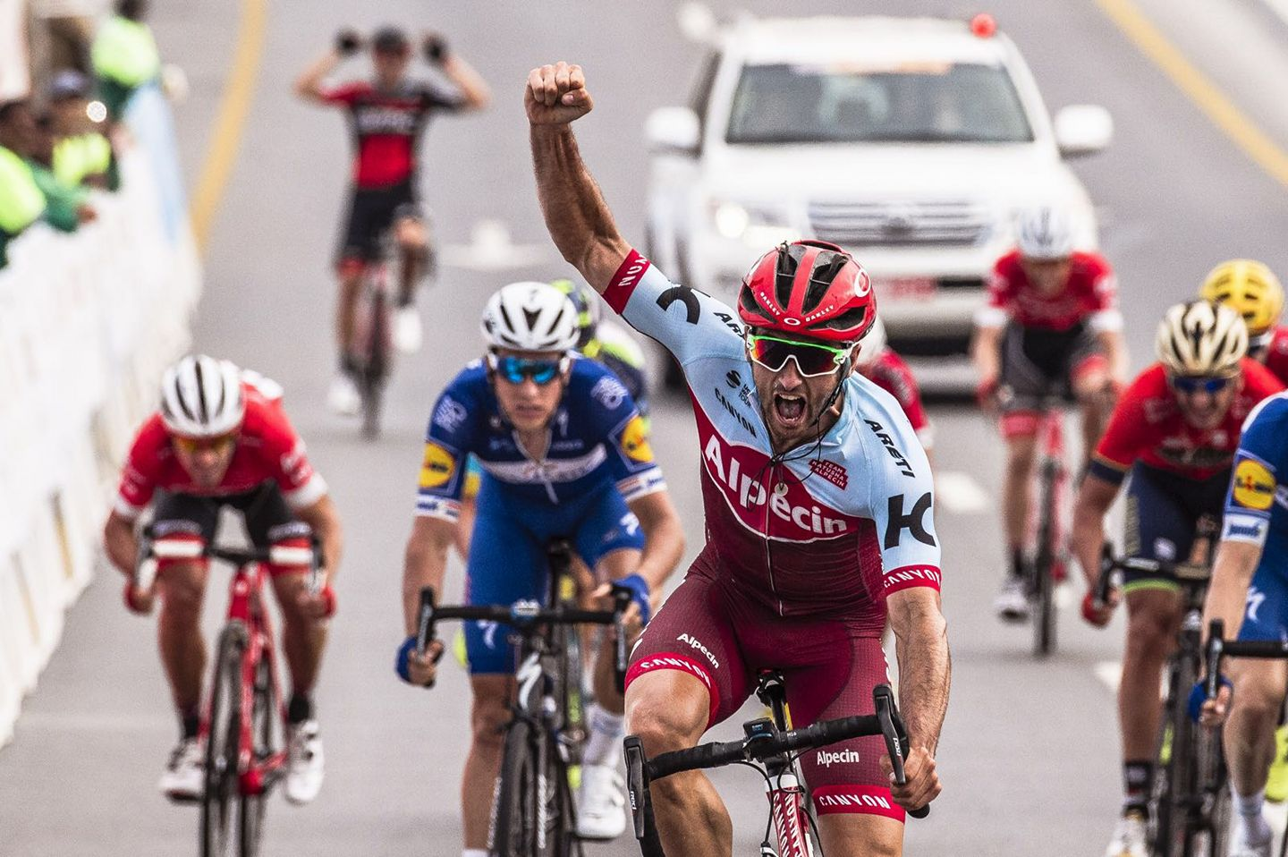 Nathan Haas vince la seconda tappa del Tour of Oman