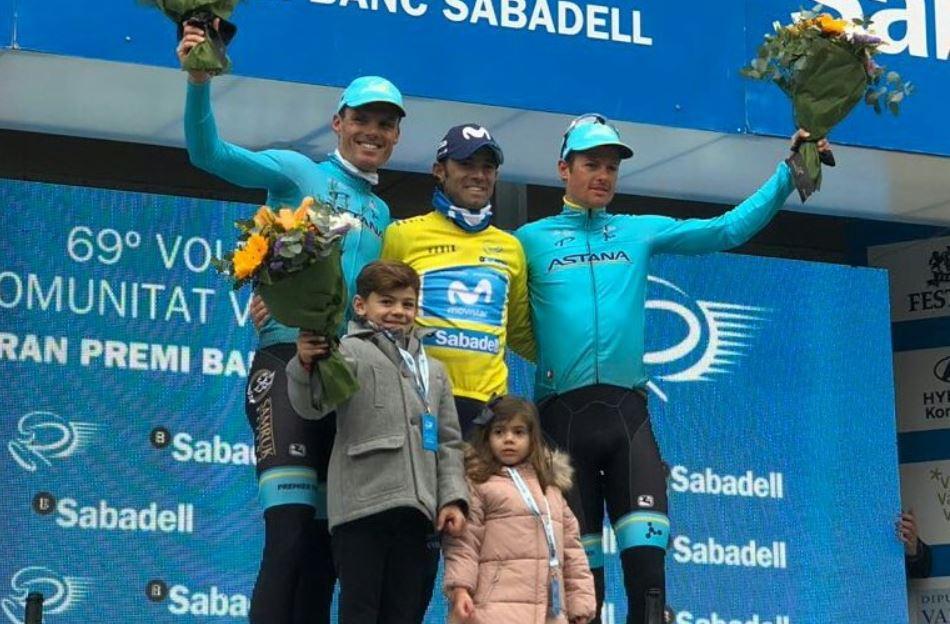 Il podio finale della Volta Valenciana 2018 vinta da Alejandro Valverde
