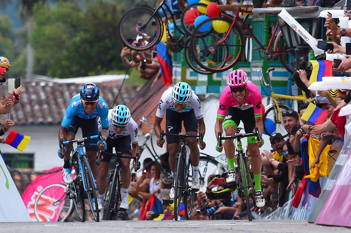 L'emozionante arrivo della quinta tappa della Colombia Oro y Paz 2018