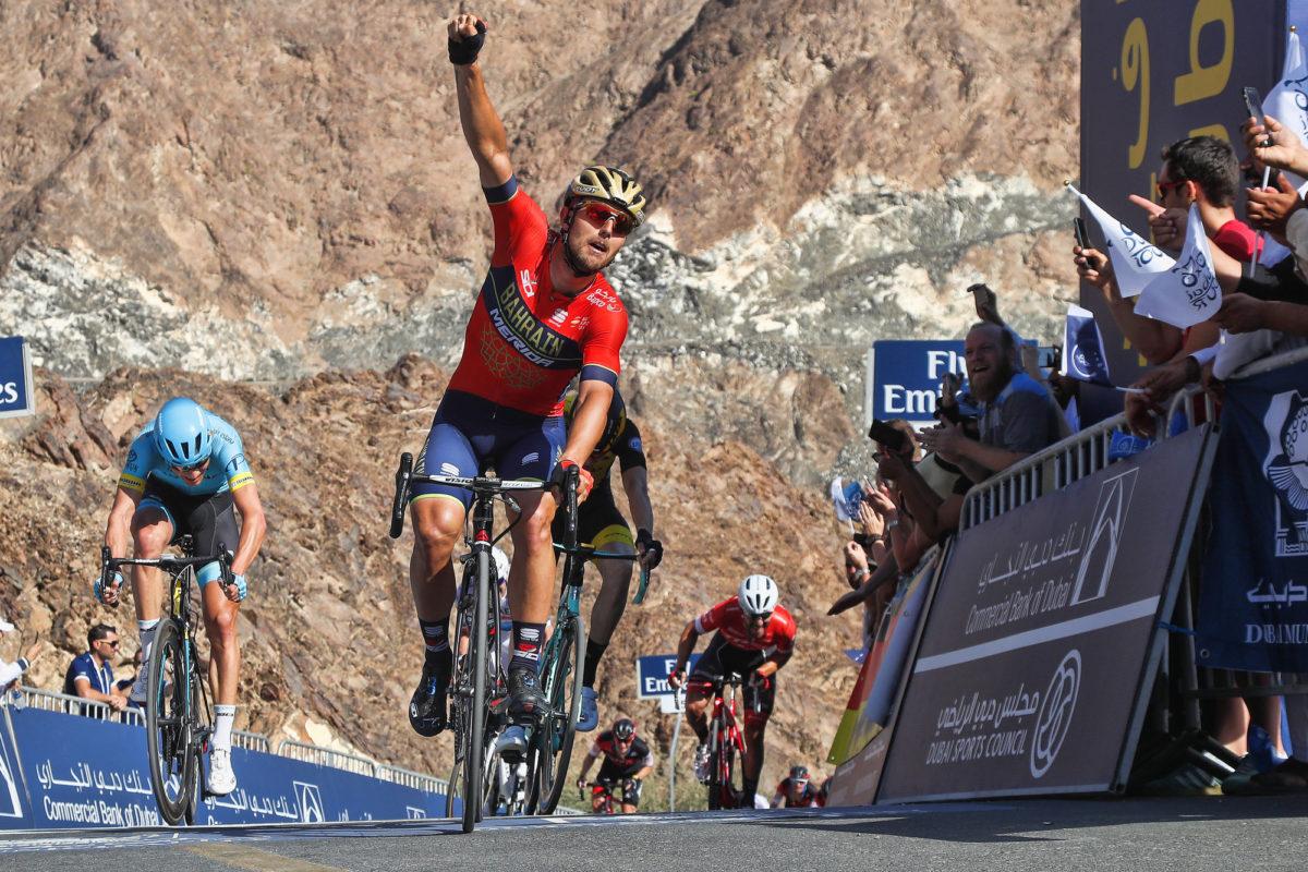 Sonny Colbrelli vince la quarta tappa del Dubai Tour 2018