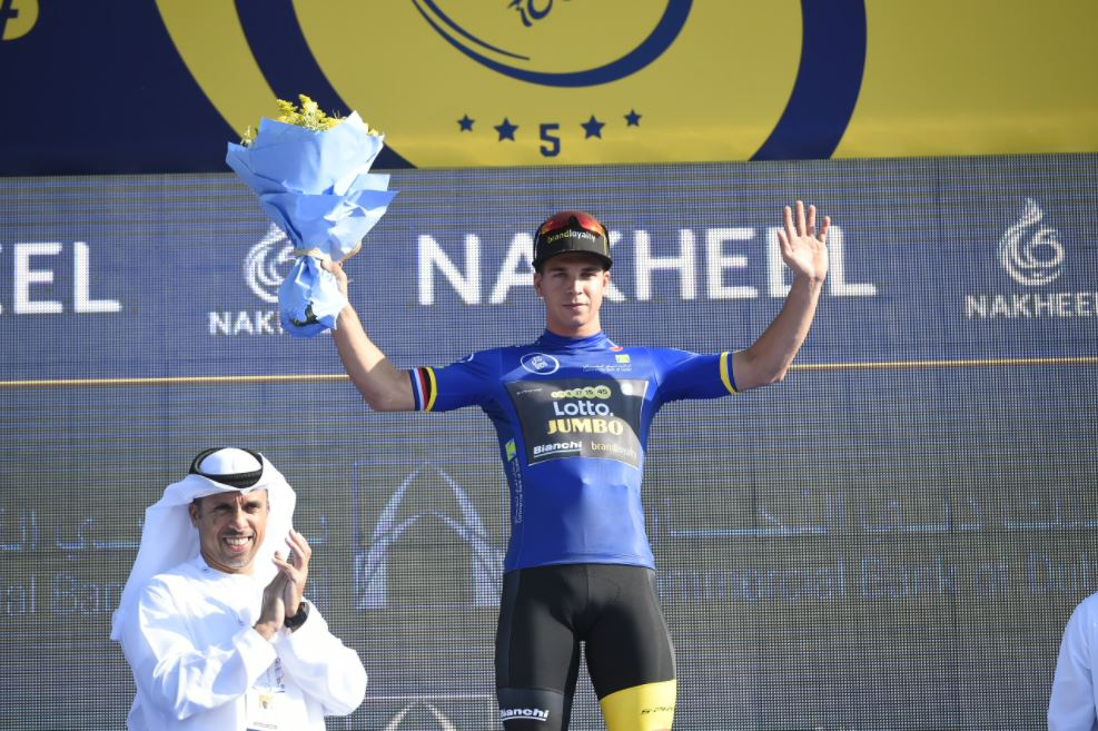 Dylan Groenewegen primo leader del Dubai Tour 2018