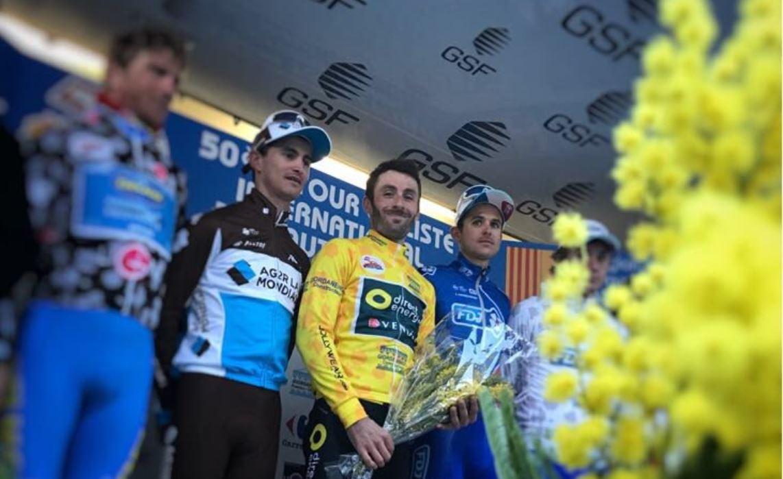 Il podio finale del Tour du Haut Var Matin 2018 vinto da Jonathan Hivert