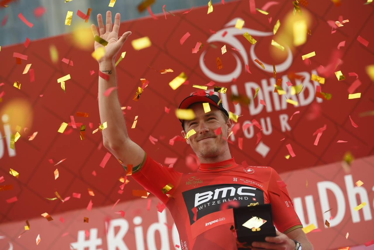 Rohan Dennis leader dell'Abu Dhabi Tour dopo la vittoria nella crono