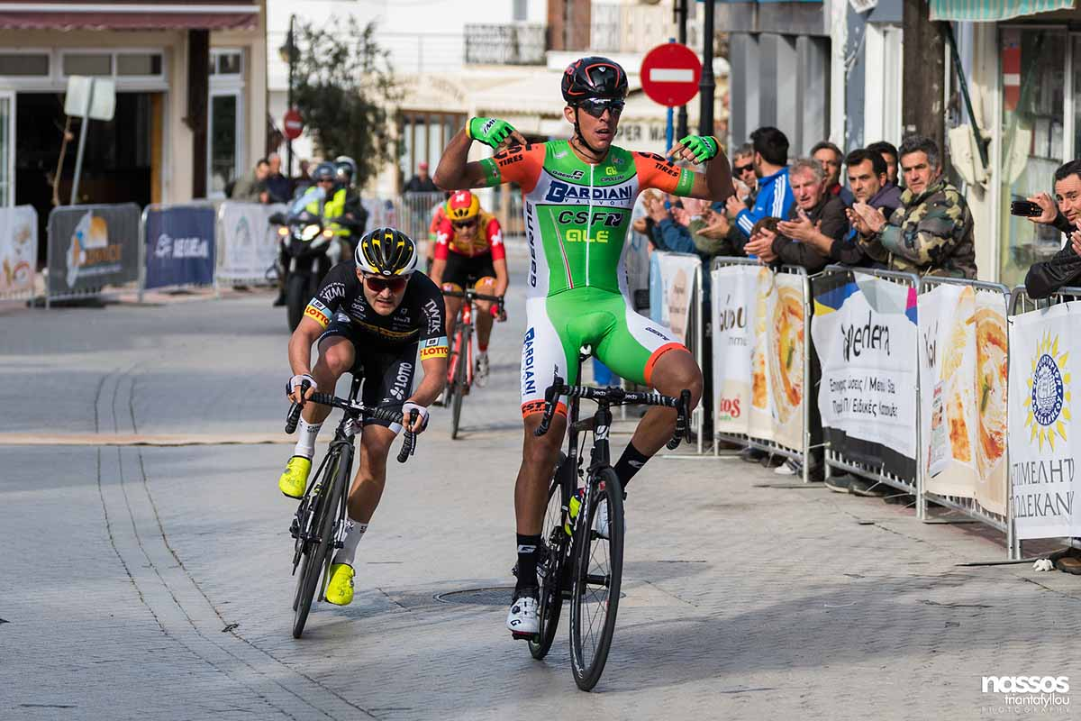 Mirco Maestri vince la prima tappa dell'International Tour of Rhodes