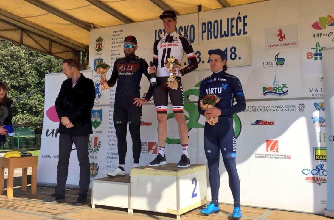 Nils Eekhoff vince la prima tappa dell'Istarsko Proljece - Istrian Spring Trophy