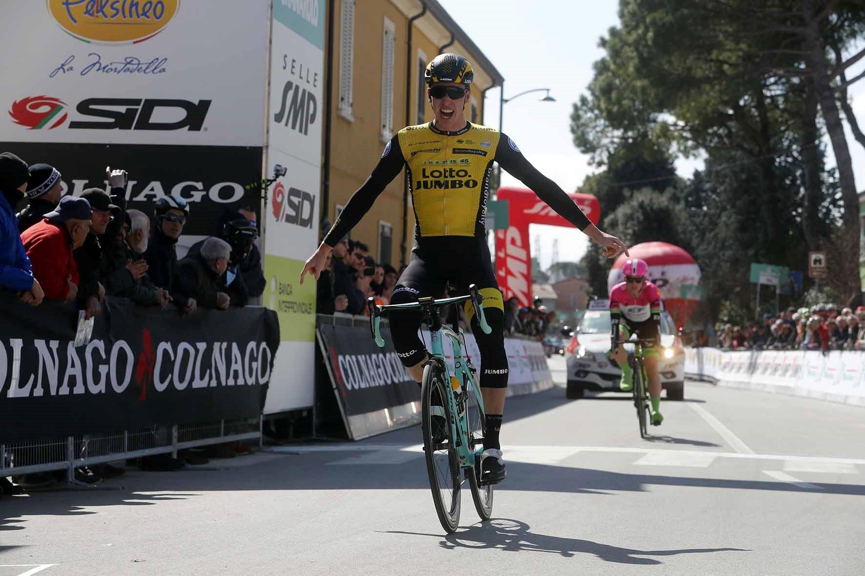 Pascal Eenkhoorn vince la prima semitappa della Settimana Coppi e Bartali 2018