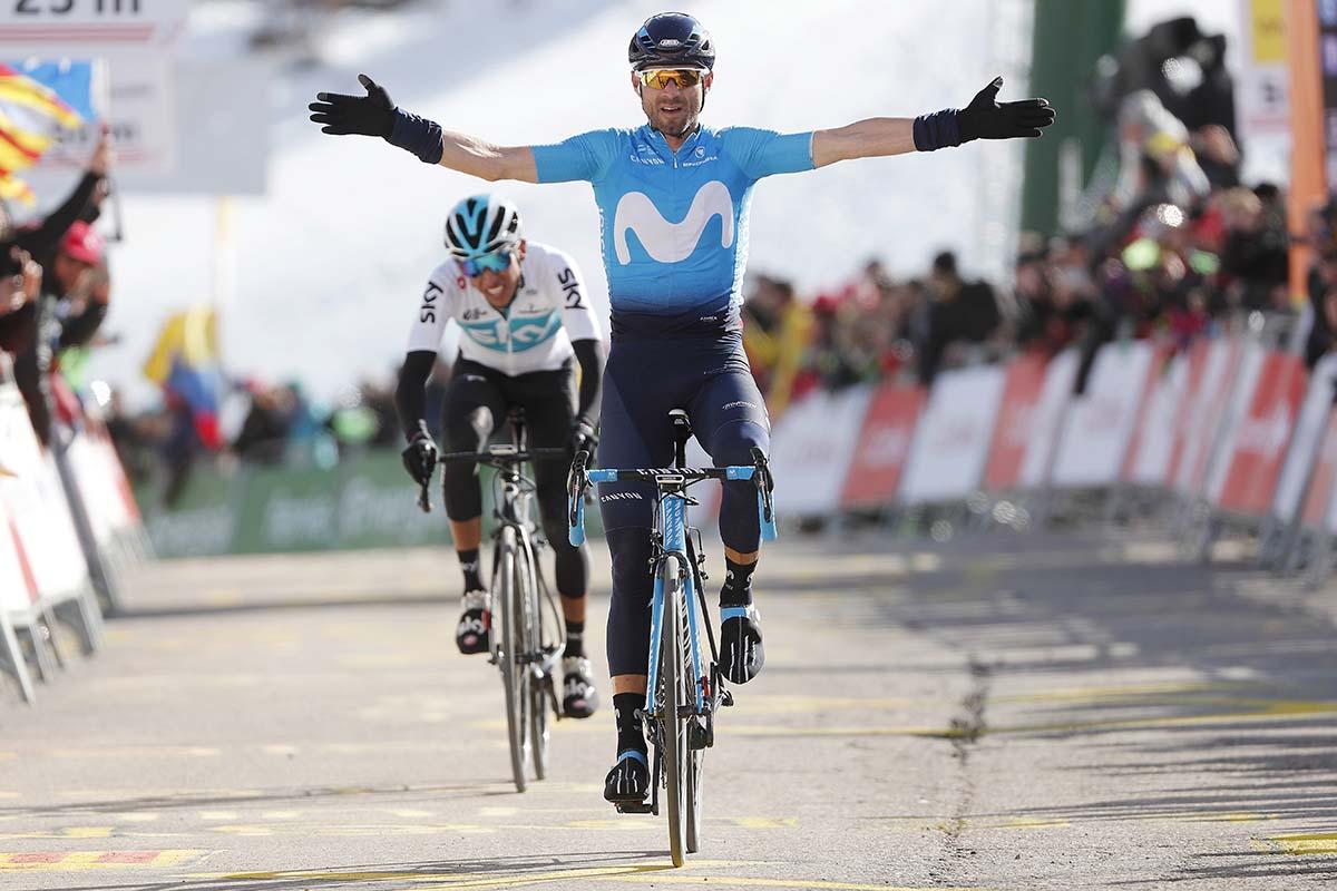 Alejandro Valverde vince la quarta tappa della Volta Ciclista a Catalunya 2018