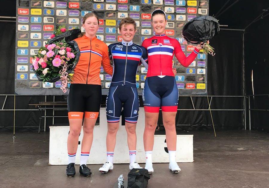 Il podio della Gand-Wevelgem Donne Junior 2018