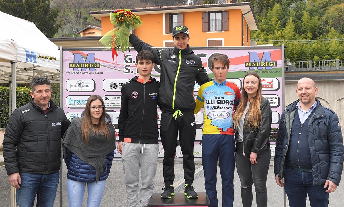 Il podio del Trofeo Comune di Gussago 2018