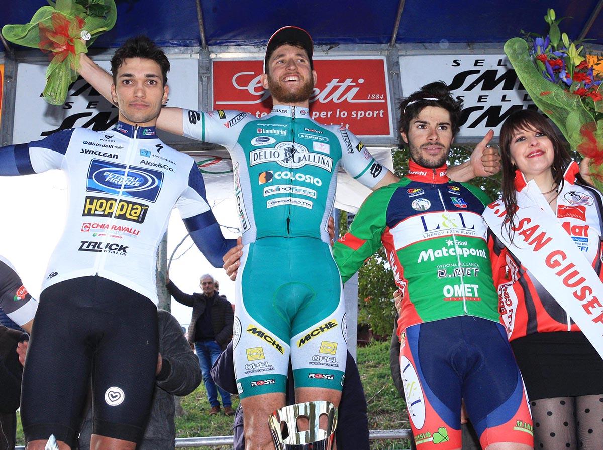 Il podio del Gp San Giuseppe di Montecassiano 2018