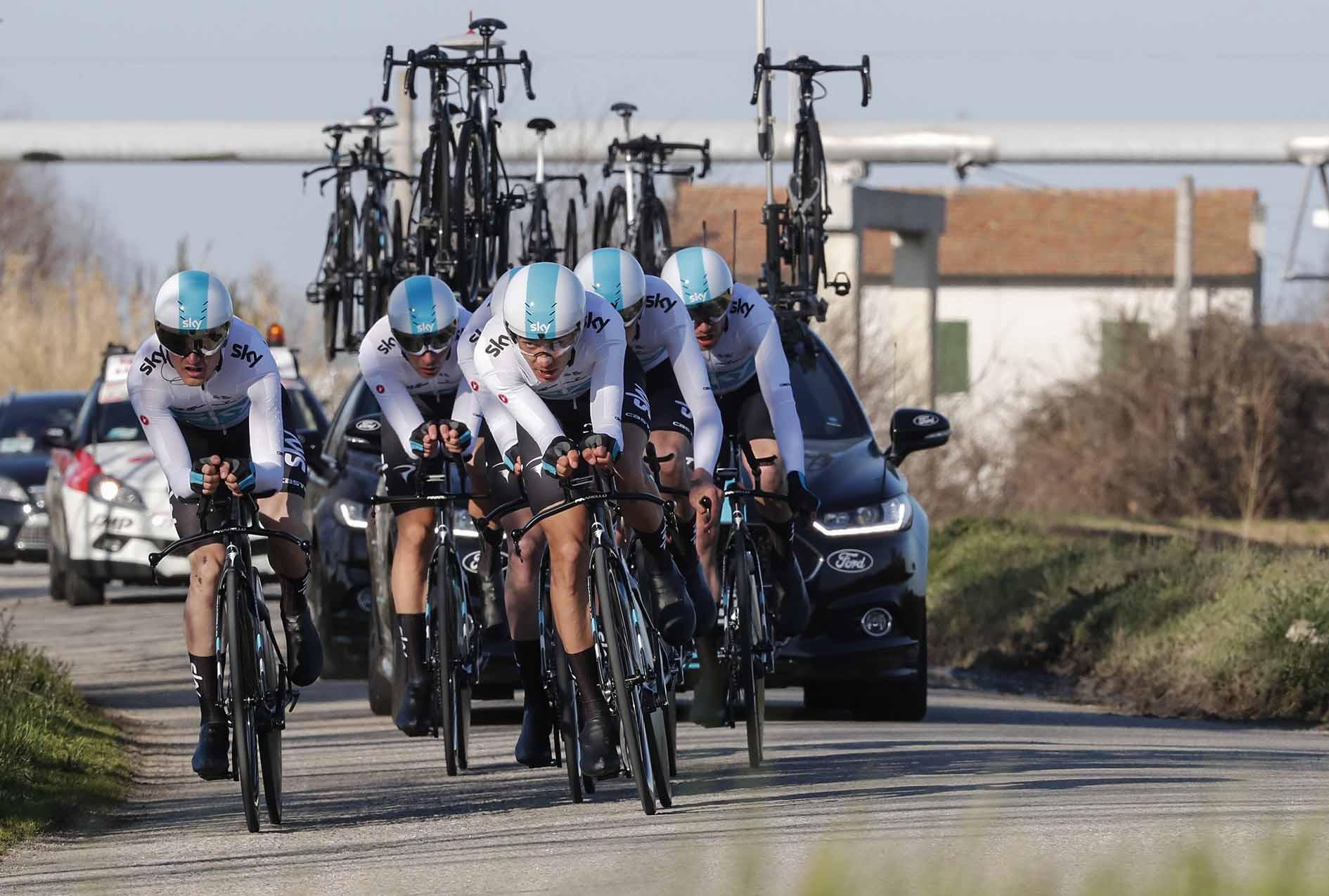 Il Team Sky vince la cronosquadre della Settimana Coppi e Bartali 2018