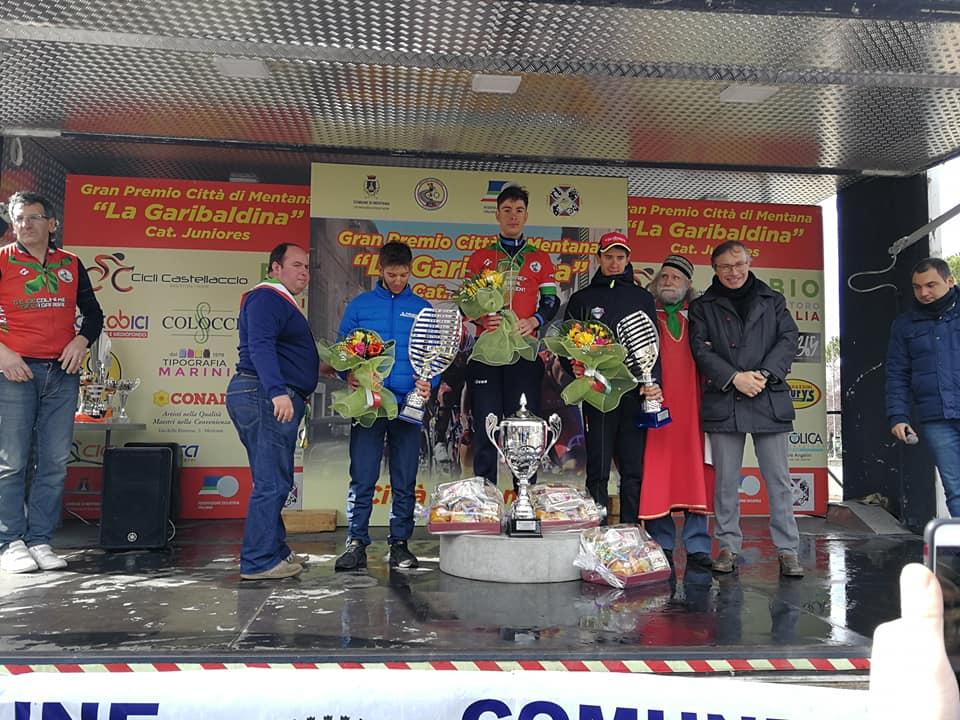 Il podio del 1° Trofeo Città di Mentana