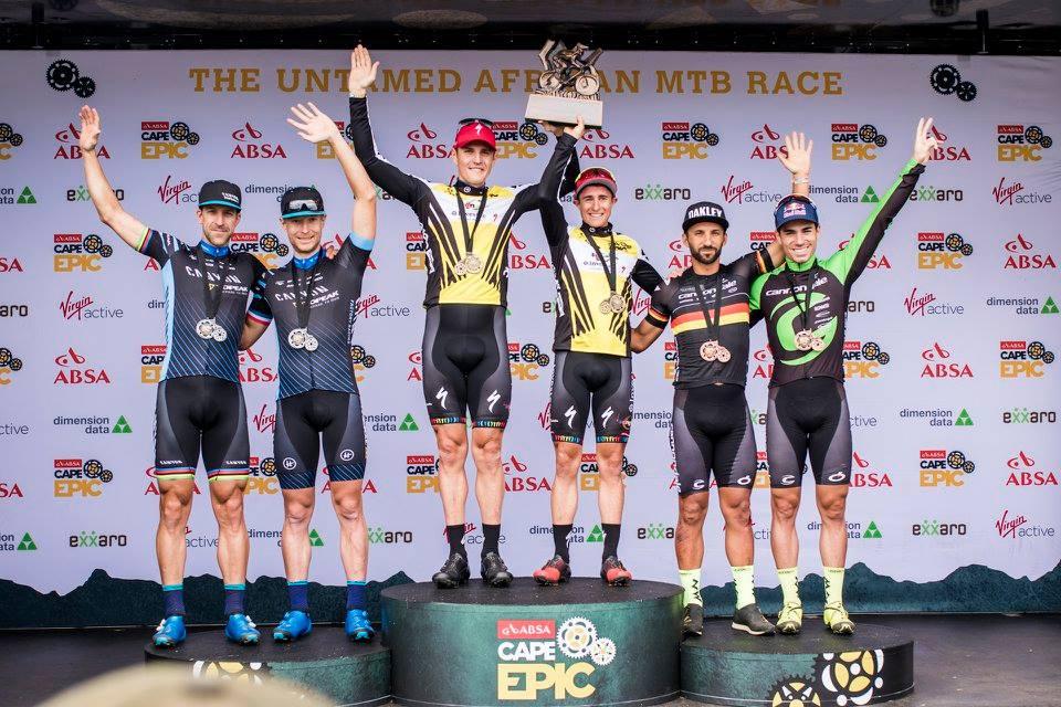 Il podio finale della Cape Epic 2018