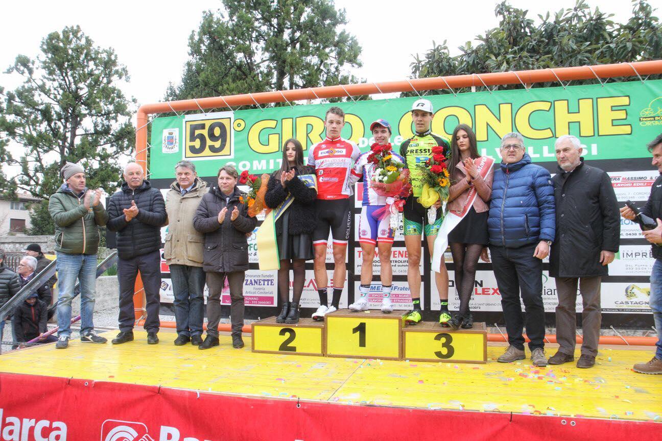 Il podio del Giro delle Conche 2018