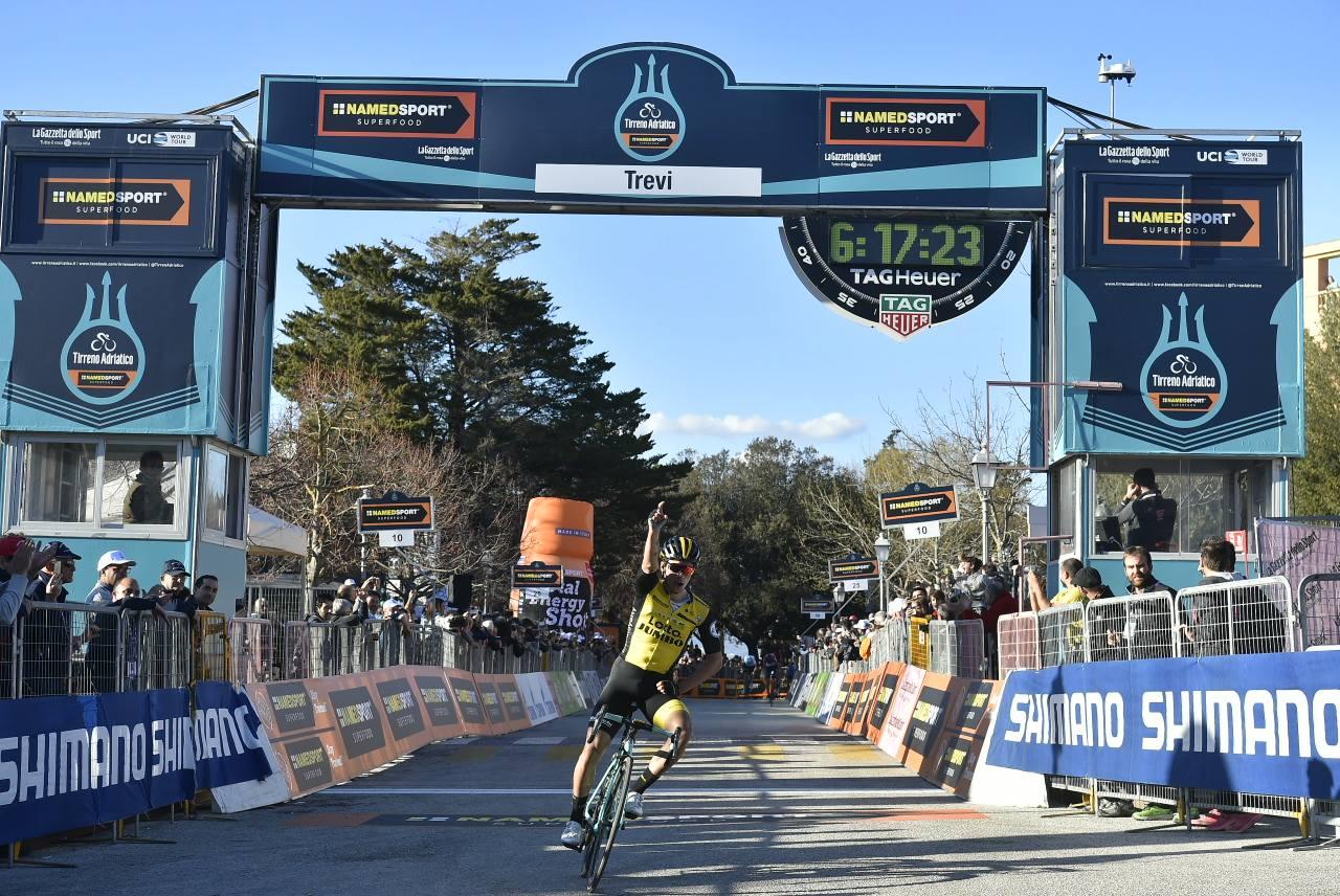 Primoz Roglic vince la terza tappa della Tirreno-Adriatico 2018