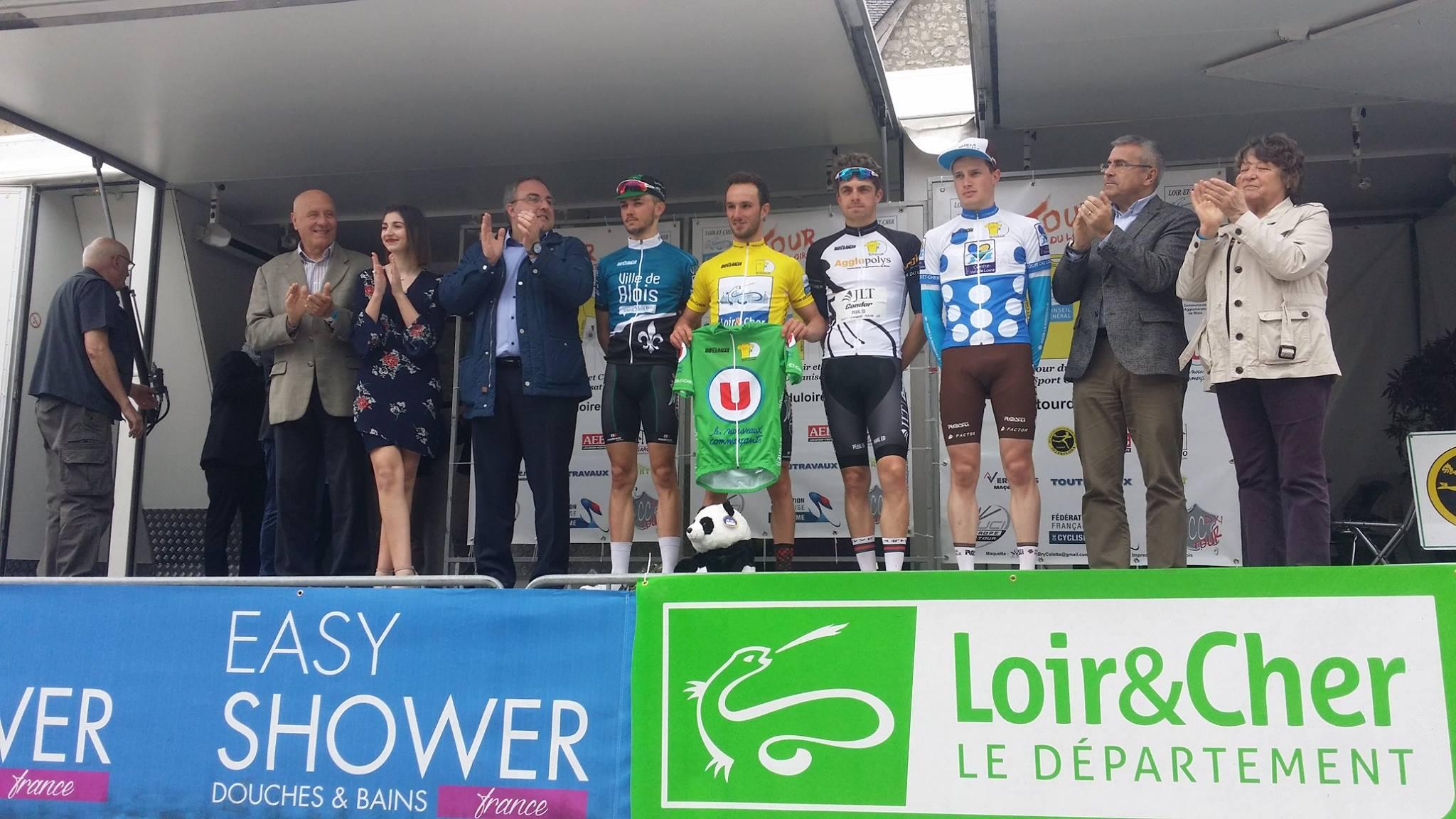 Leonardo Bonifazio sul podio del Tour du Loir et Cher E Provost