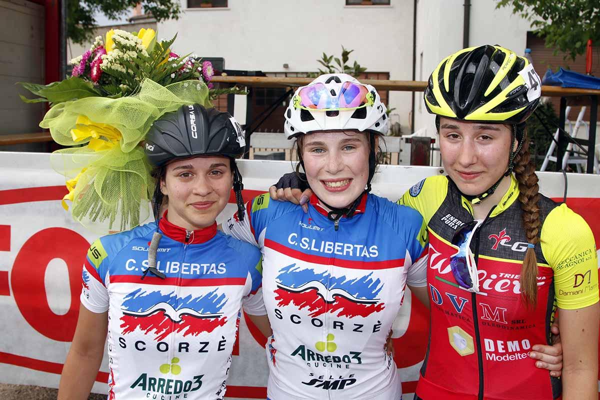 Il podio della gara Donne Allieve di Bovolone