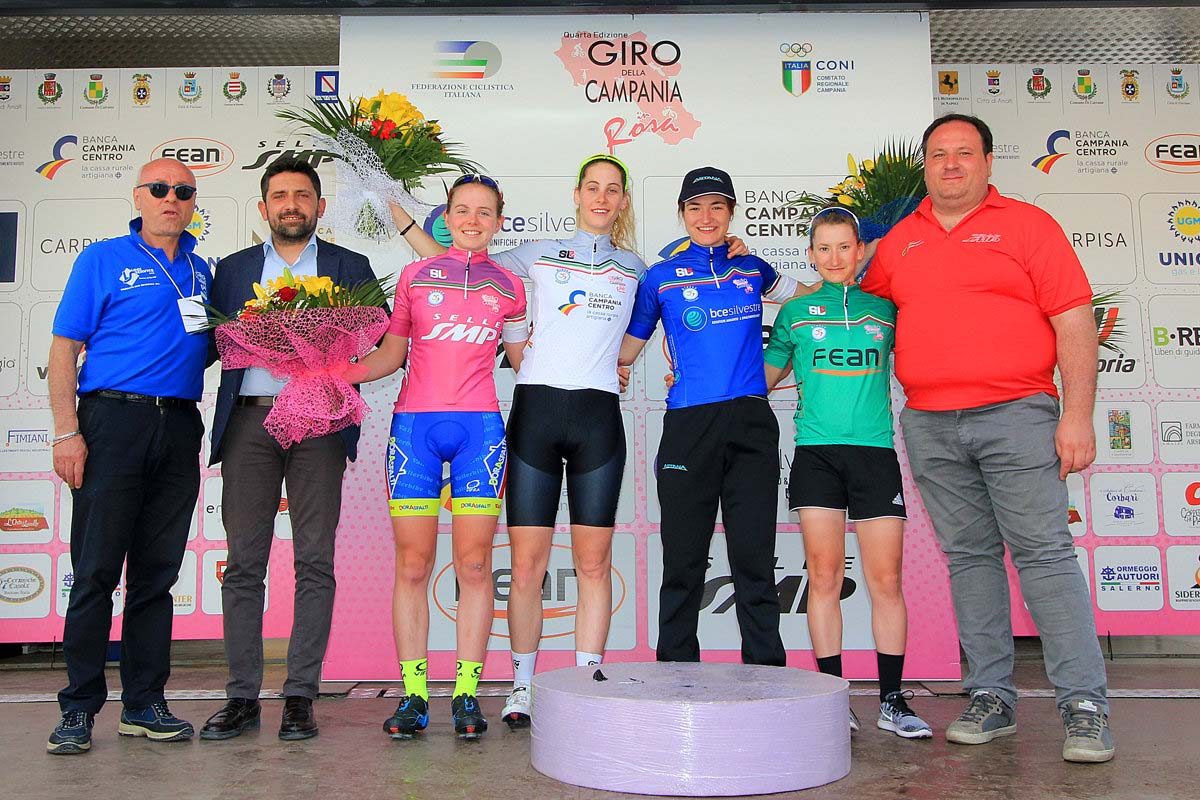 Tutte le maglie dopo seconda prova del Giro della Campania in Rosa 2018