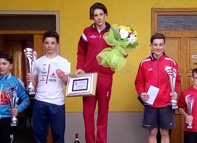 Il podio Esordienti 1° anno di Calusco d'Adda