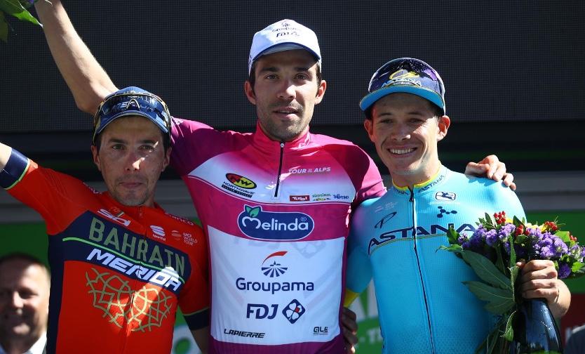 Il podio finale del Tour of the Alps 2018