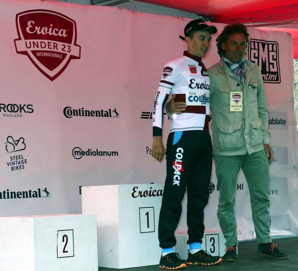 Andrea Bagioli nuovo leader del Toscana Terra di Ciclismo - Eroica 2018