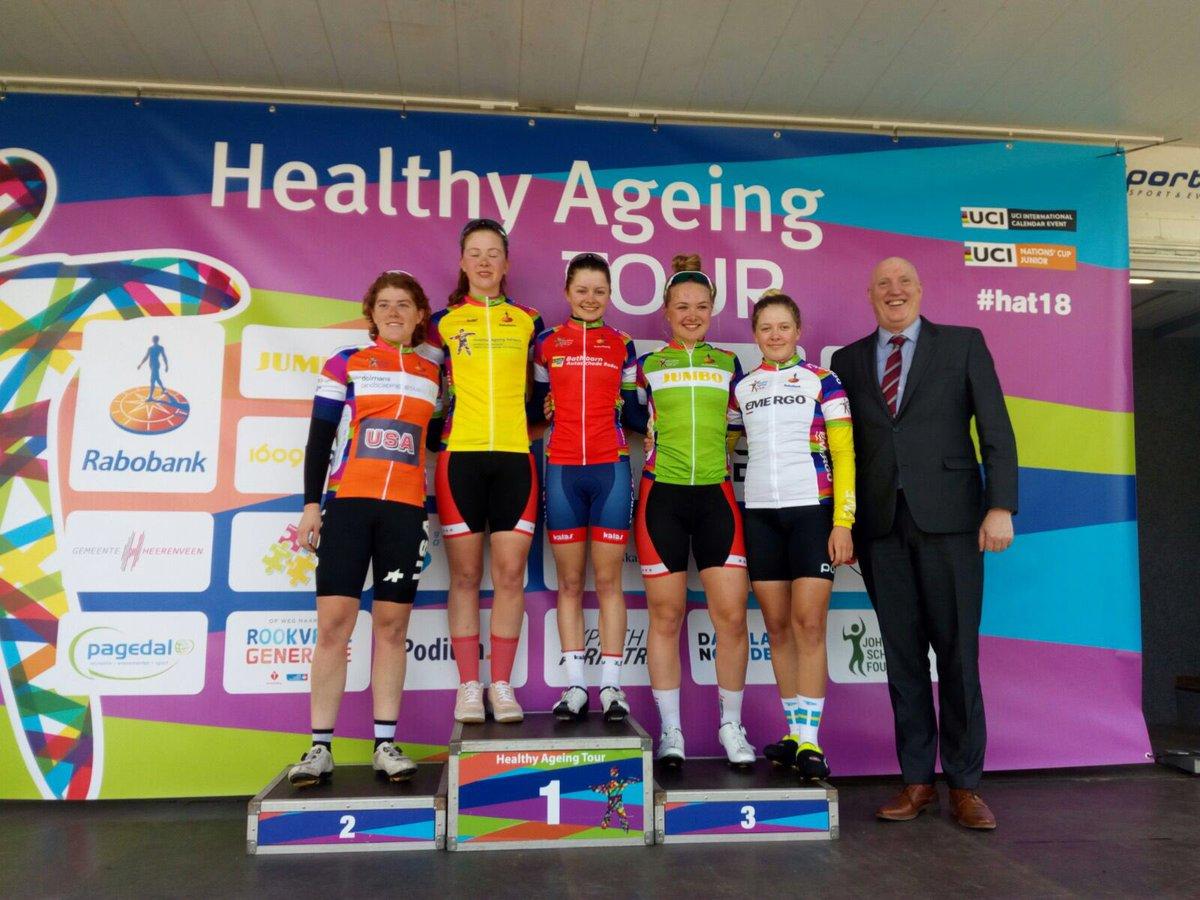 Le maglie dopo la prima tappa dell'Healthy Ageing Tour Junior Women