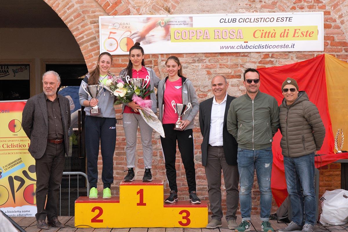 Il podio della gara Donne Allieve di Este
