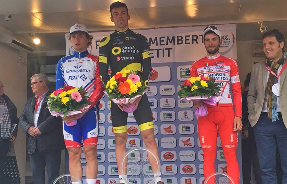 Il podio della Paris-Camembert