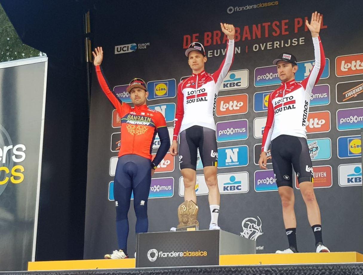 Il podio della Freccia del Brabante 2018
