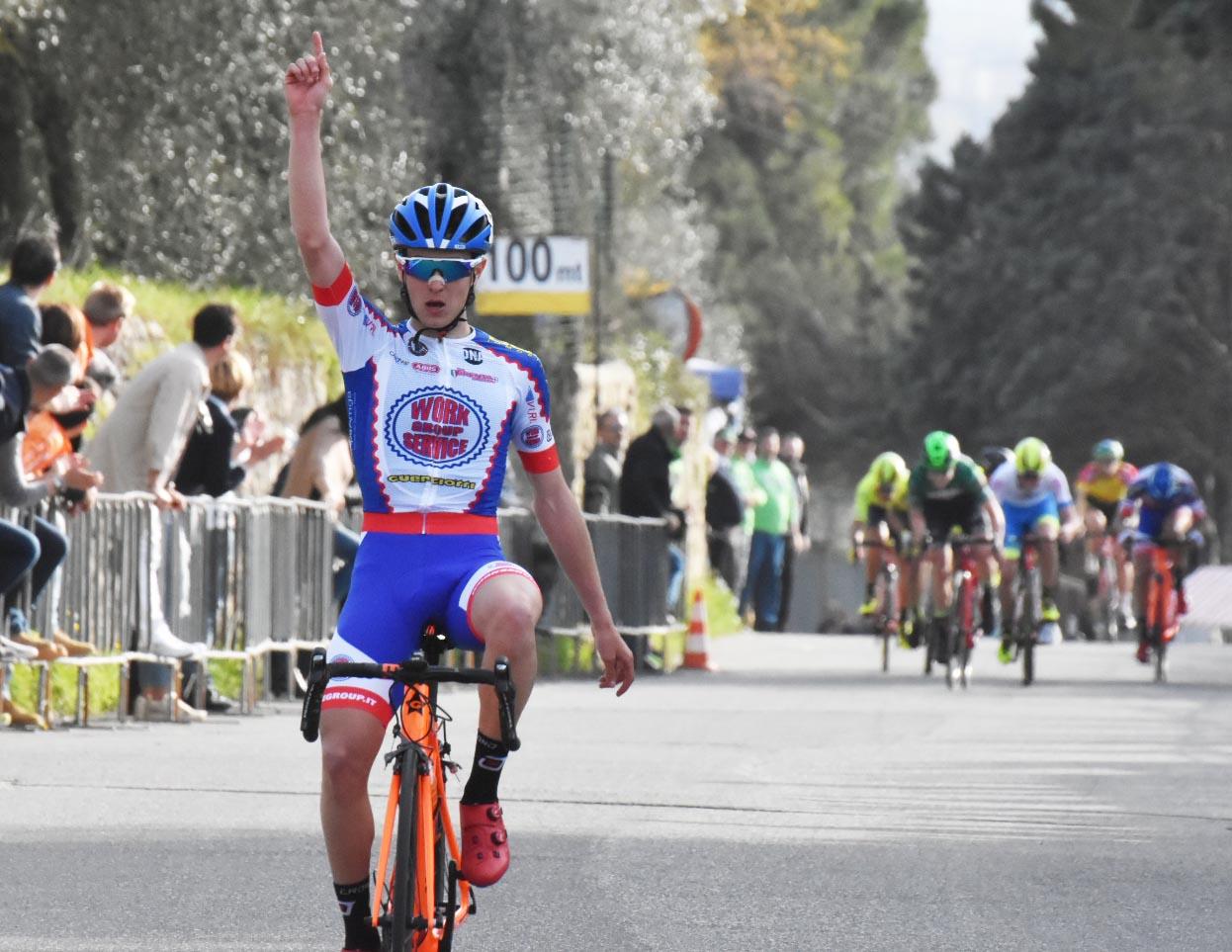 La vittoria di Gabriele Benedetti a Calenzano