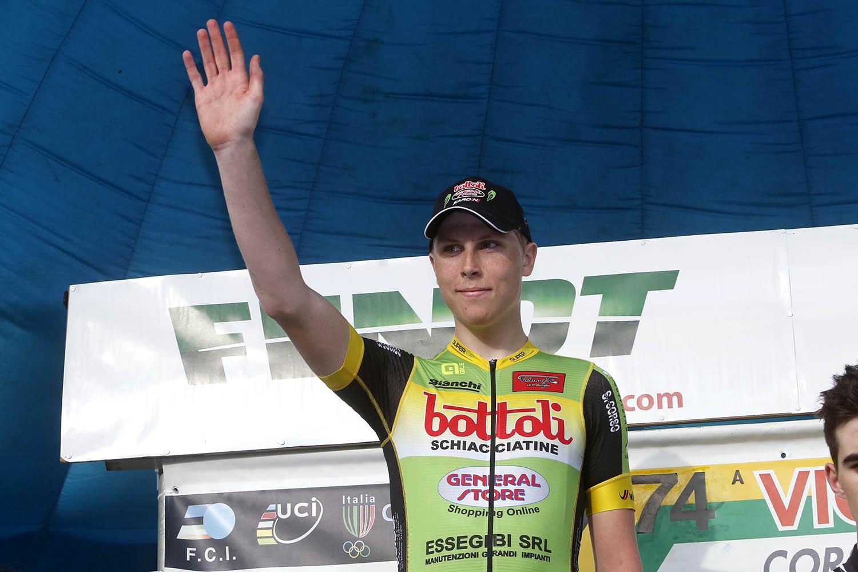 Rasmus Iversen vincitore della cronometro di Città di Castello