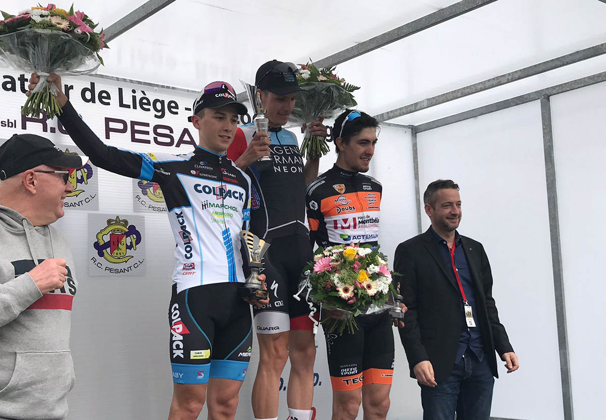 Il podio della Liegi-Bastogne-Liegi U23