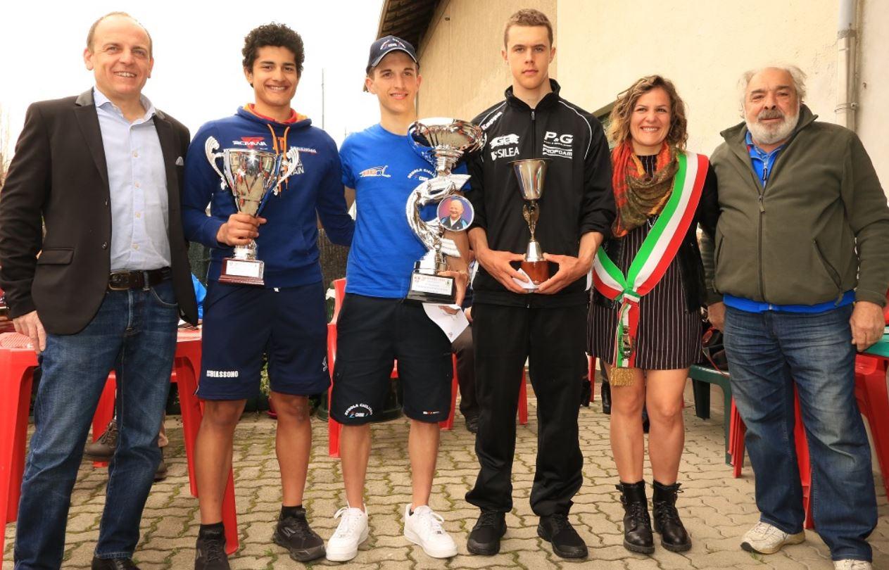 Il podio della Novara-Suno