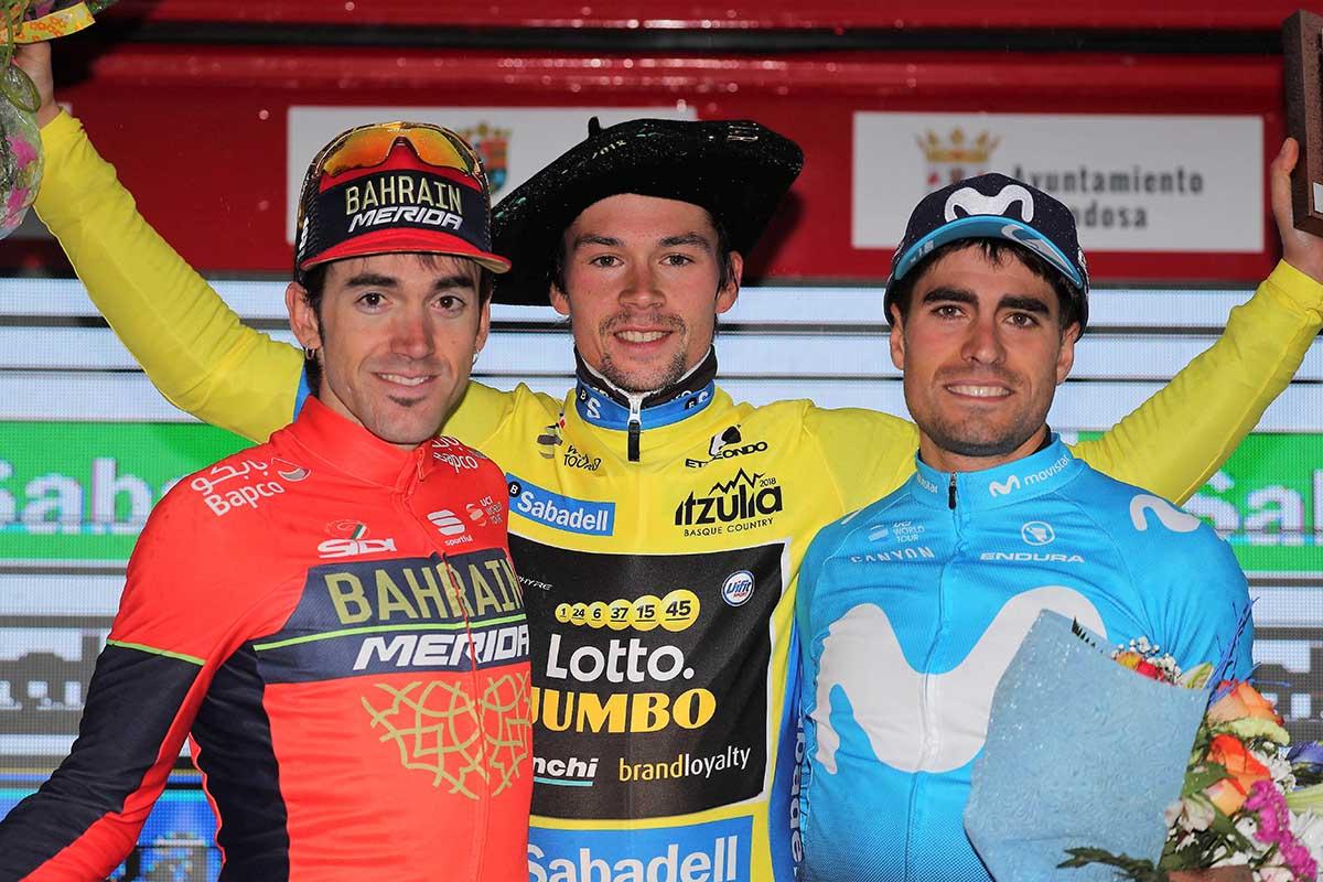Il podio finale del Giro dei Paesi Baschi 2018