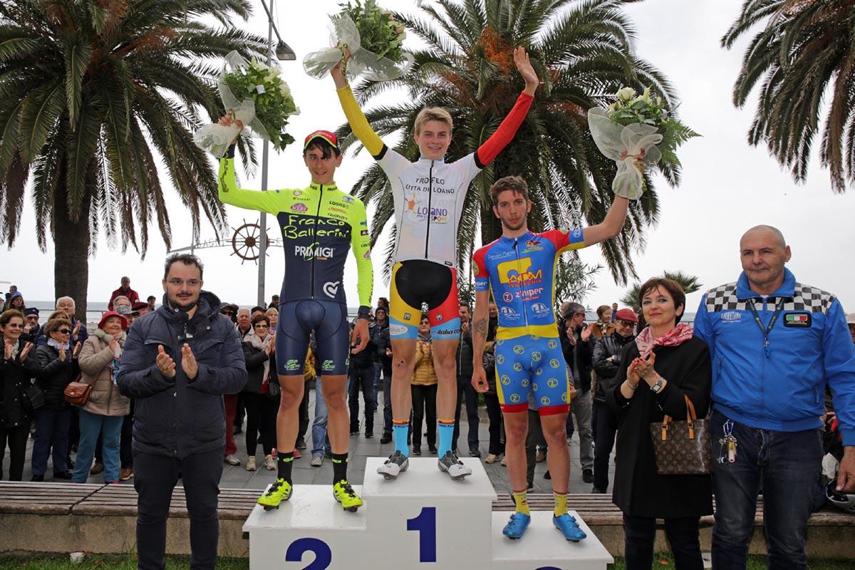 Il podio del 46° Trofeo Città di Loano