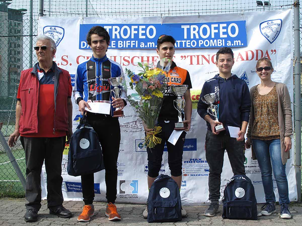 Il podio della gara Esordienti 2° anno di Cernusco