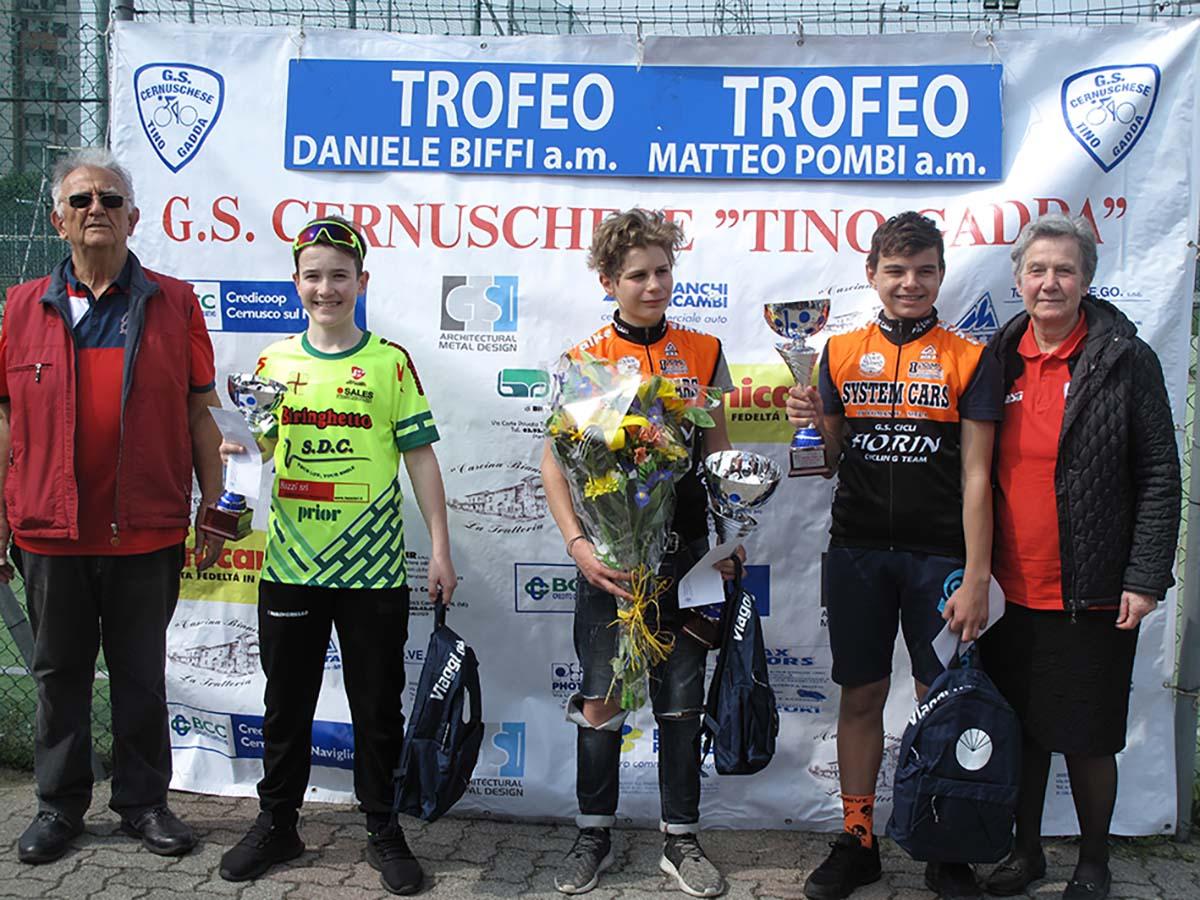 Il podio della gara Esordienti 1° anno di Cernusco
