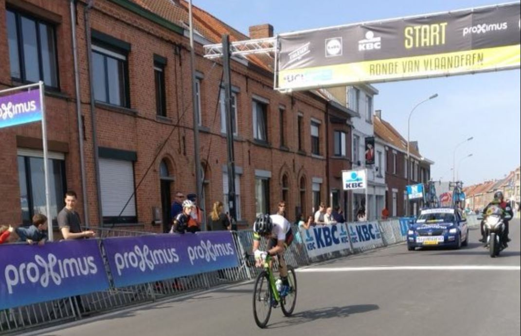 James Whelan vincitore solitario al Giro delle Fiandre U23