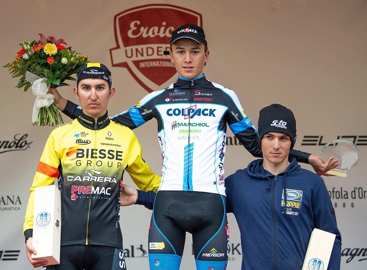 Il podio dell'ultima tappa del Toscana Terra di Ciclismo 2018