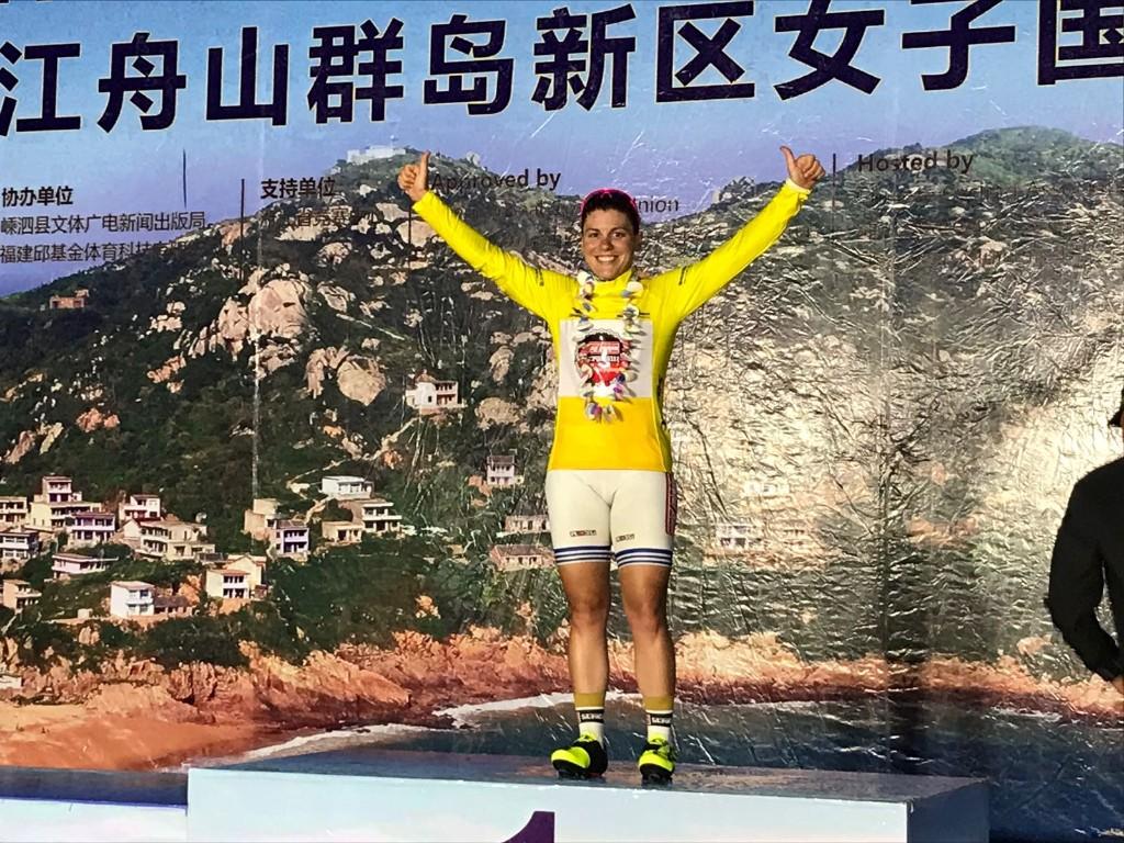 Argiro Milaki vincitrice della prima tappa del Tour of Zhoushan Island