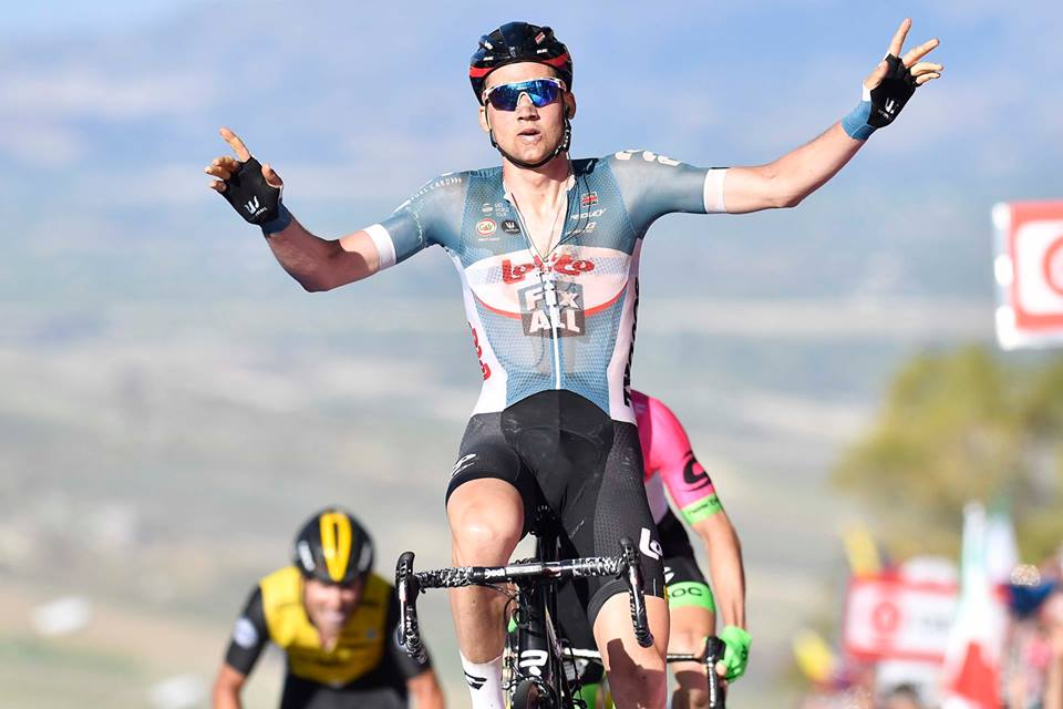 Tim Wellens vince la quarta tappa del Giro d'Italia 2018