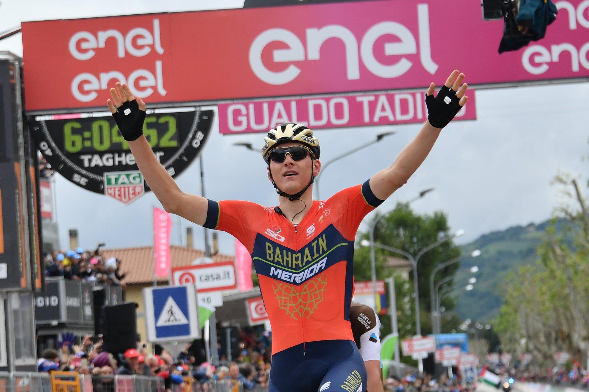 Matej Mohoric vince la decima tappa del Giro d'Italia 2018