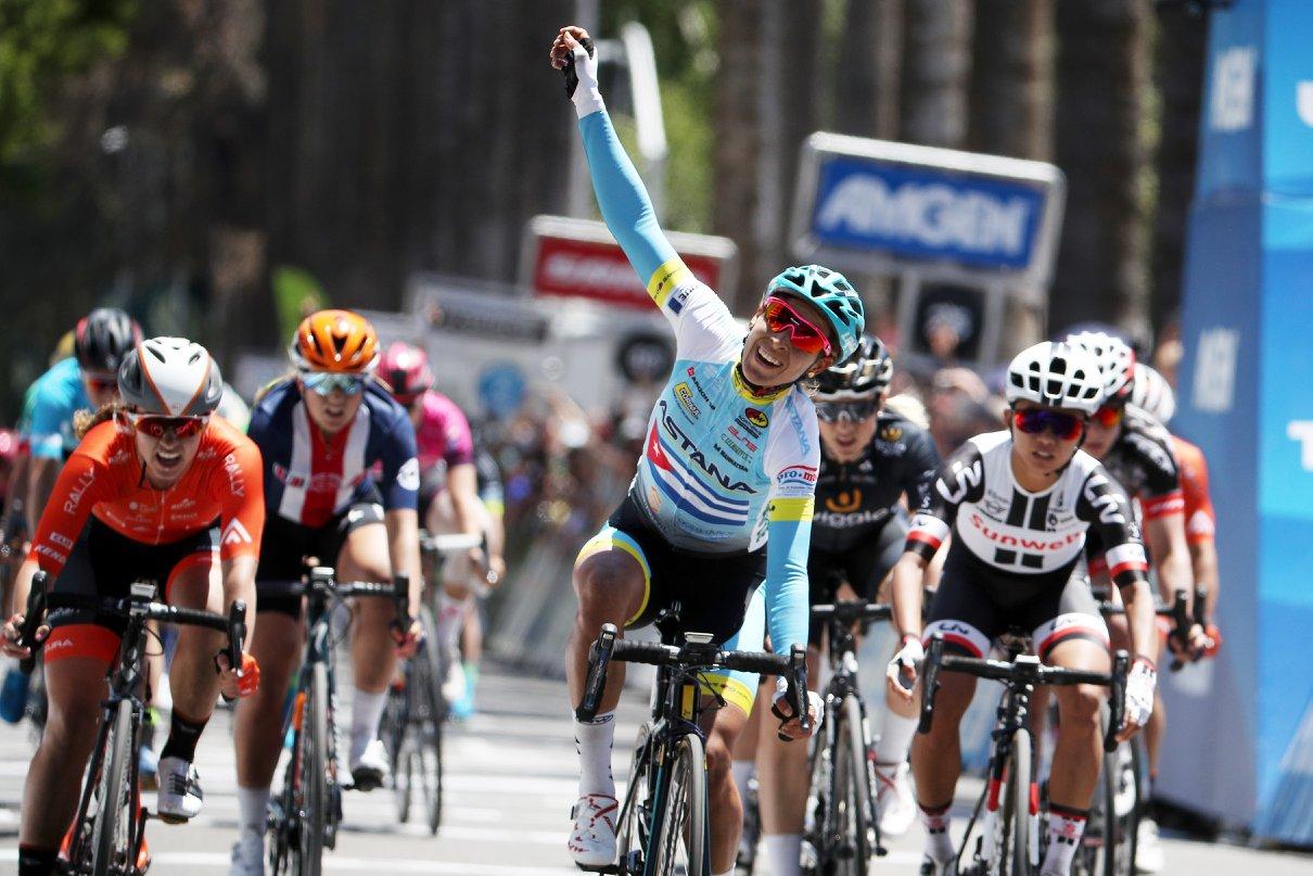 Arlenis Sierra vince l'ultima volata del Tour of California femminile 2018