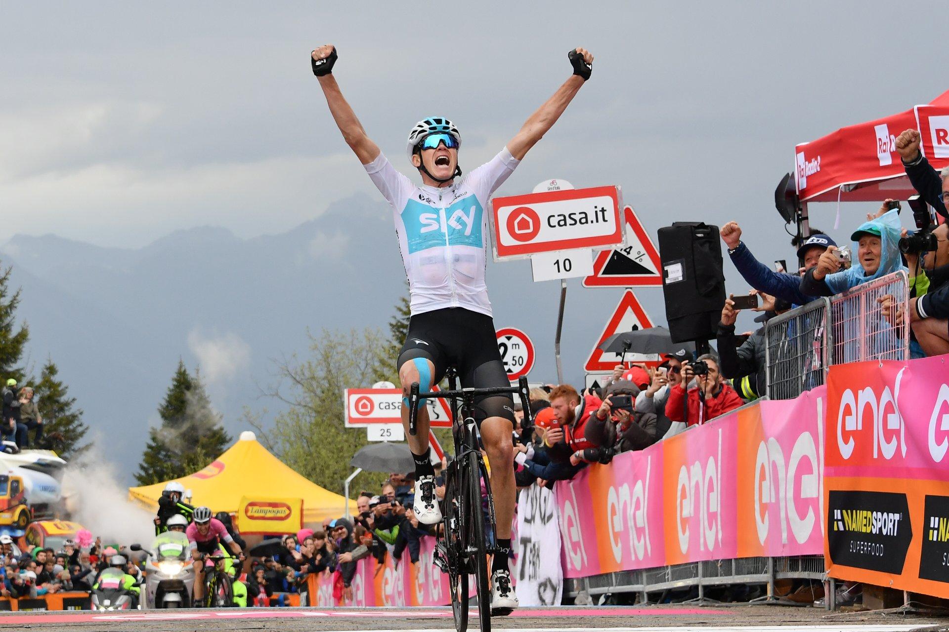 Chris Froome vince la tappa dello Zoncolan del Giro 101
